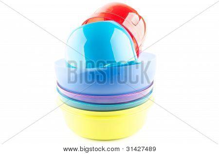 Colorful Plastic Bowls