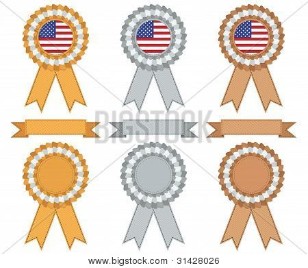 Usa Gold Silver And Bronze