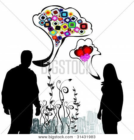 Dialog between man and woman II