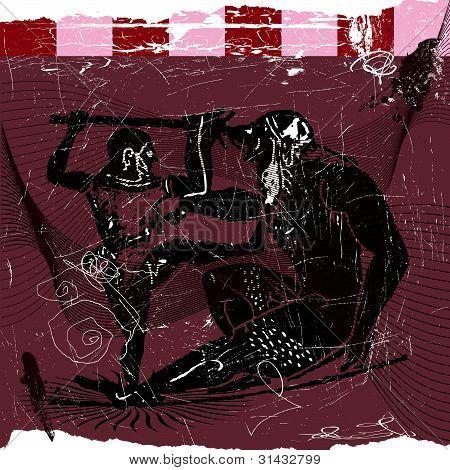 Griego odysseus y ogro