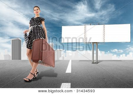 Girl And Billboard