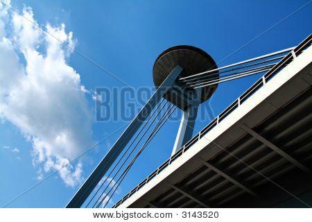 New Bridge (Novy Most) In Bratislava