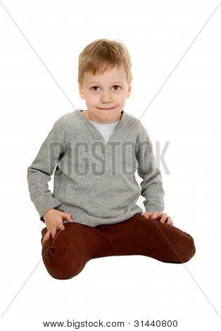 Child Is Sitting