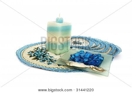 Table Overlays, Candle, Ash-tray