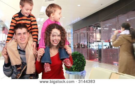 Family Shoppers In Store