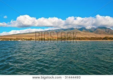 Maui Island Hawaii Ocean Shore Near Lahaina Town