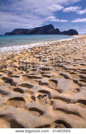 Fossil Sand On The Beach