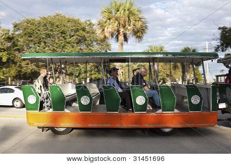 Tourist Street Tramway In St. Augustine