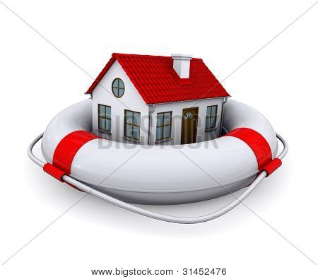 House in lifebuoy