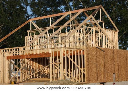 A new house under construction