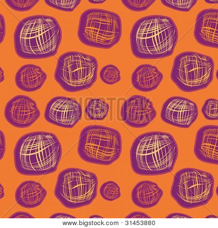 Orange Seamless Background With Squares