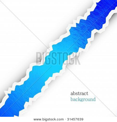 Torn Abstract Background With Place For Your Text. Vector Illustration. Best Choice
