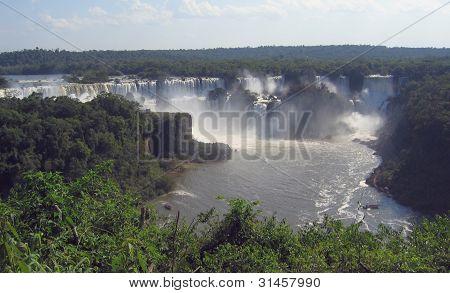 Brazil-Argentina border, Iguassu river national park falls