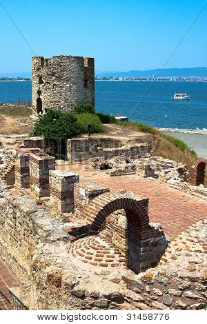 The Old Stone Mill. Nessebar. Bulgaria.