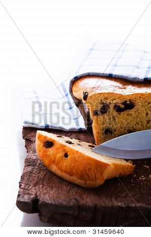 Fresh Raisin Bread As A Studio Shot