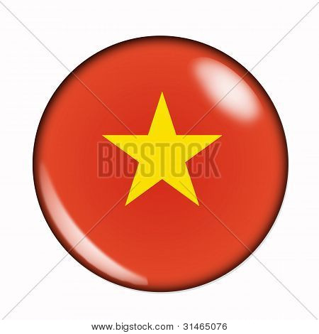 Button Flag Of Vietnam