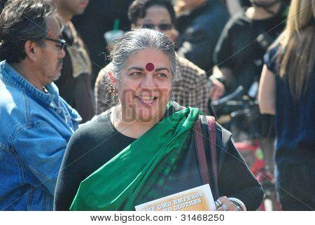 vandana shiva, at occupy wall street