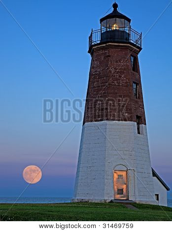 Moonrise at Point Judith