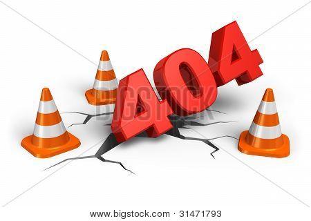 404 webpage error concept