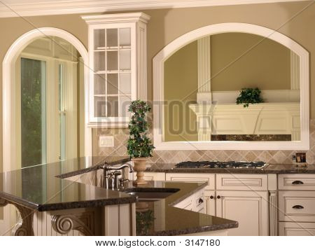 Luxury Model Home Kitchen Opening