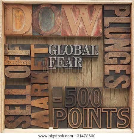 falling stock market words