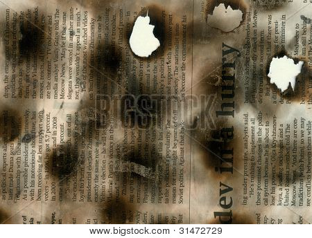 Burnt Newspaper