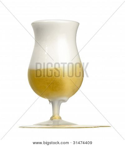 Ebullient Glass Of Beer