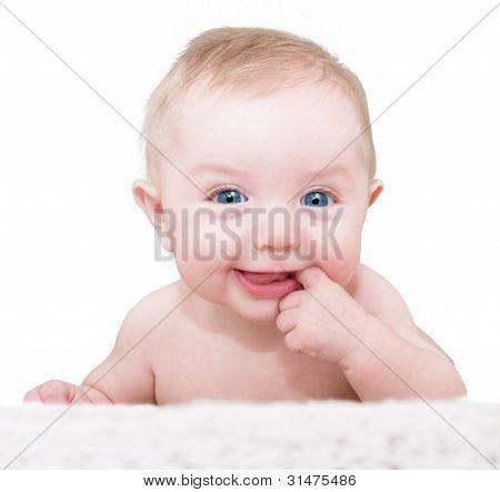 Baby Boy Posing