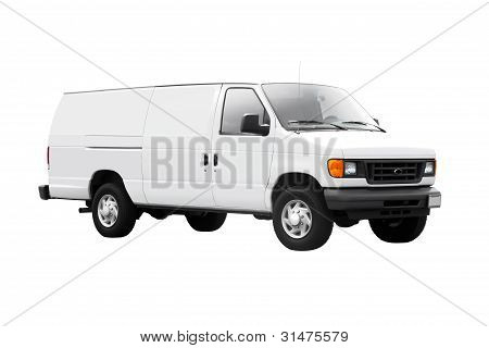 White Delivery Van