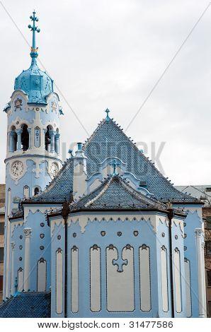 Igreja azul em Bratislava