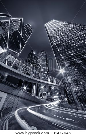 City Night of Hong Kong