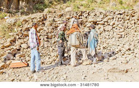 Kashmiri Wall Builders Team Meeting