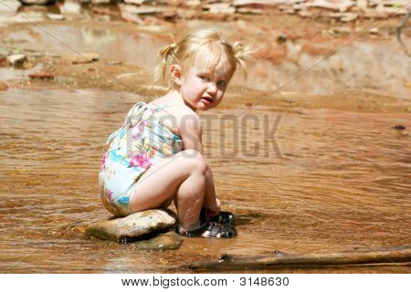 A Two Year Old At The Creek