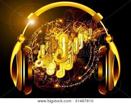 Headphones Of Music