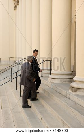Entering Court