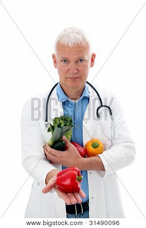 Doctor With Vegetables
