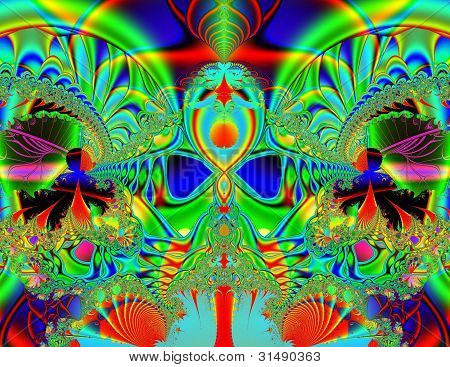 Rainbow reflections fractal