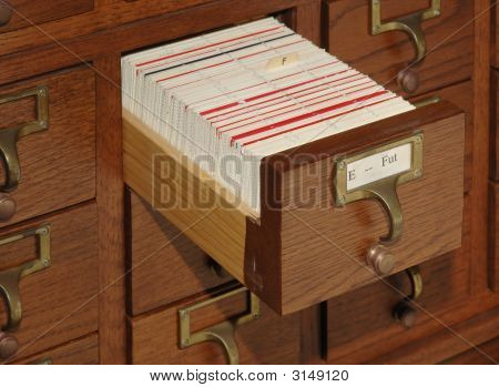 Card Catalog File Drawer