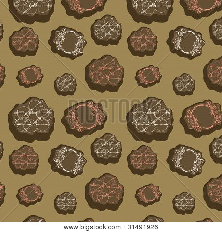 Original Seamless Background With Miscellaneous Elements