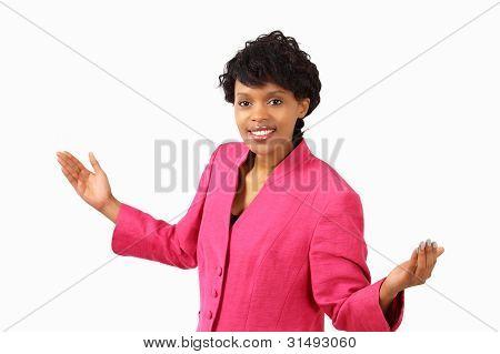 Businesswoman Gesture