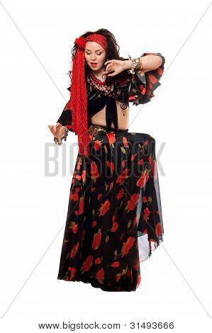 Sensual Gypsy Woman In A Black Skirt