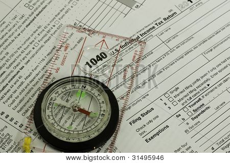 1040 Tax Form, Compass, Guidance