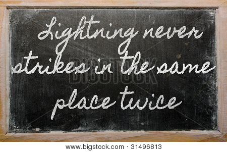 Expression -  Lightning Never Strikes In The Same Place Twice