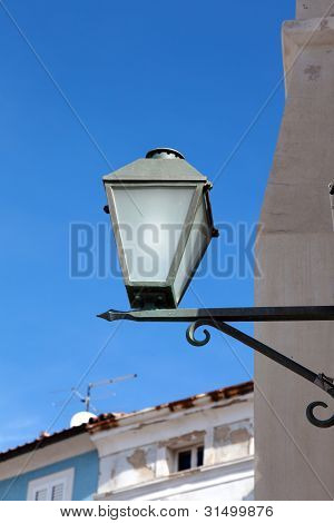 Old Street-lamp On House Background