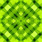 Seamless Symmetrical Pattern Abstract Green Leaves Texture poster