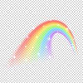 Shine Rainbow Vector Isolated On Transparent Background. Illustration Of Rainbow Colorful Shine, Nat poster