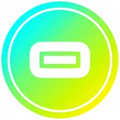 subtraction with cool gradient finish circular icon with cool gradient finish poster