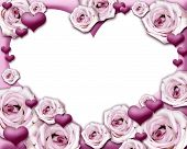 foto of purple rose  - Pink roses and hearts - JPG