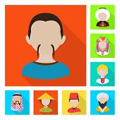Bitmap Illustration Of Nation And Race Symbol. Collection Of Nation And User Stock Bitmap Illustrati poster