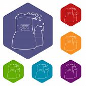 Cooling Tower Icon. Outline Illustration Of Cooling Tower Vector Icon For Web poster